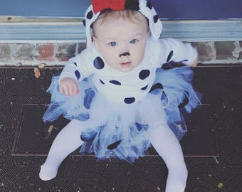 Dalmatian baby costume, baby Halloween costume, girls Halloween costume