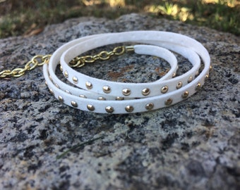 SALE || White Stud Wrap Bracelet