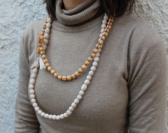 ONLY soft, lightweight fabric necklace