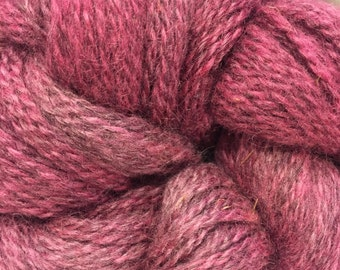 Rosy Pink Overdyed Wool