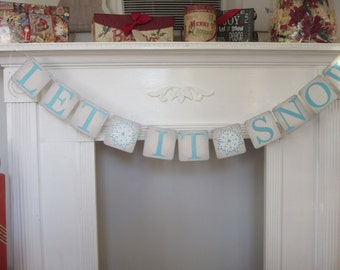 Let It Snow Christmas Banner Snowflakes