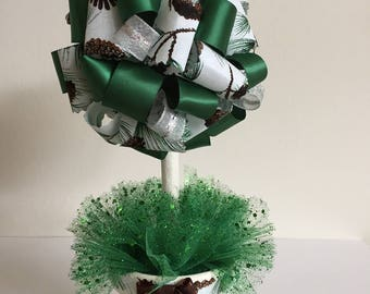 Pincone Theme Ribbon Topiary Ornament
