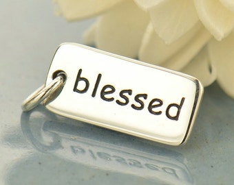 Sterling Silver Blessed Charm