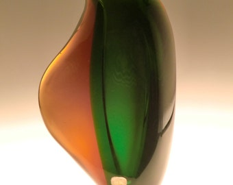 Czech Bohemian Skrdlovice Art Glass Smmerso Vase by Maria Stahlikova and Milena Veliskova