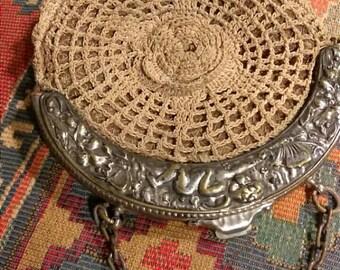 Antique Art Novea Cherub Silver Plate Chatelaine