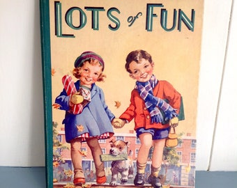 Vintage Children's Story Book Illustrated Annual Lots of Fun