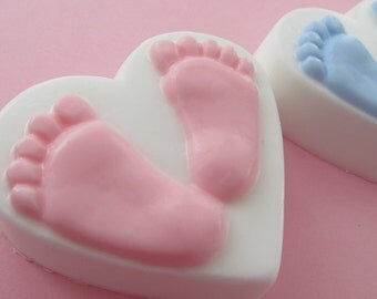 Baby feet soap baby shower soap favors 20 its a girl soap favors its a boy favors bath and beauty scented unscented heart soap favors party