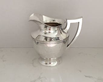 Wilcox Art Nouveau Pitcher With Hammered Trim Silverplate EPNS 7025 N