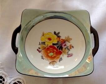 Noritake Hand Painted Lusterware Square Bowl