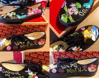 Alice in Wonderland Custom Vans