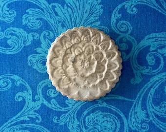 Creme Stamped Mandala Magnet