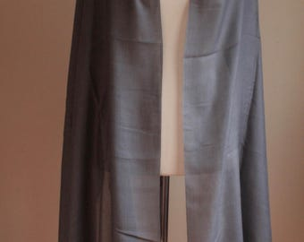 Charcoal Grey Silk Pashmina/Special Gift/Weddingfavors/Bridesmaidgifts/Giftforher
