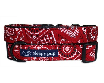 Red Bandana Dog Collar