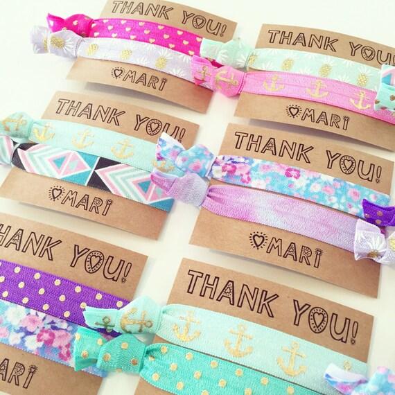 Pineapple Vibes Birthday Party Hair Tie Favors | Spa Party Birthday Hair Tie Favors, Personalized Spa Party Favors, Girls Teen Tween Tie Dye