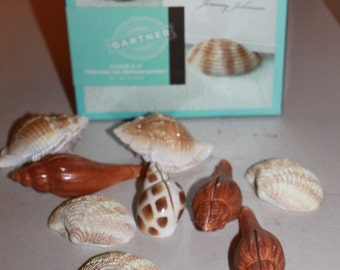 Z1 35 Sea Shell Place Card Name Gartner Favor Kit New In Box 20 plus Box that only has 15 Wedding Beach Party G1
