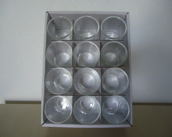 Clear Glass Votive Holders Set of 12