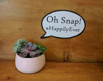 Hashtag Sign Luxury Custom Speech Bubble Prop 013-394 Personalized Hashtag Sign for Weddings Businesses and parties