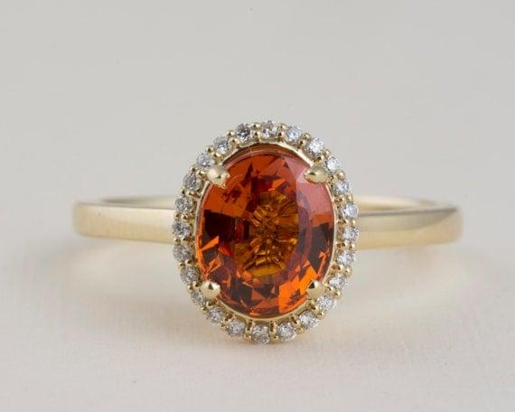 Orange Mandarin Garnet Ring With Halo Of Round Diamonds In 14k. Sapphire Diamond Wedding Rings. Houston Astros Rings. Athlete Rings. Photography Rings. Intense Pink Rings. Anniversary Gift Wedding Rings. Inspiration Wedding Rings. 27 Carat Engagement Rings