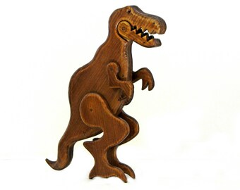 Wooden Tyrannosaurus Rex - Ξύλινος Τυρανόσαυρος Ρεξ