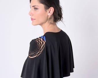 Black Dress Cover, Special Cover up, Black Cape, Black Capelet, Women Shrug, Black Bolero, Black Shawl, Evening Dress Cover Up, Womens Cape
