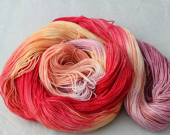 Venus. superwash merino and nylon hand dyed sock yarn.  4ply