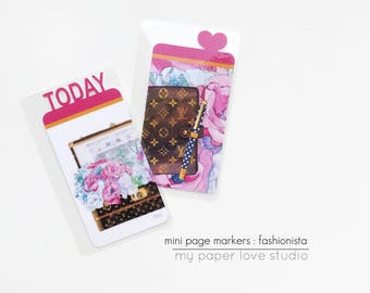 Mini Page Markers / Planner Kit Collection : Fashionista