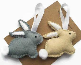 Easter Decoration, Felt Easter Bunny, Easter Gifts, Rabbit Ornament, Bunny Decorations