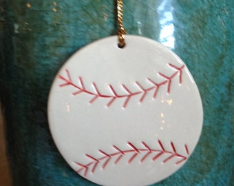 Baseball Christmas Ornament, baseball, baseball ornament, handcrafted