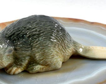 Beaver - handpainted porcelain figurine  --  2499
