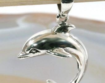 Dolphin, silver pendant-6323