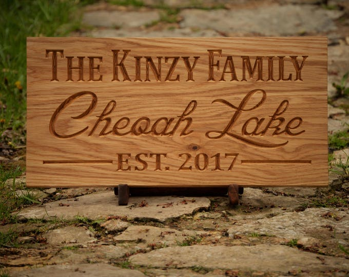 Outdoor Sign Decor Outside Sign Last Name Established Sign Wedding Gift Last Name Established Sign Custom Wood Sign Carved Wood Sign Cabin