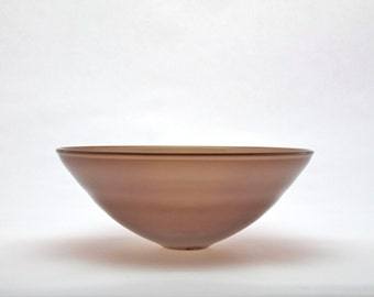 Opaline brown blown glass bowl