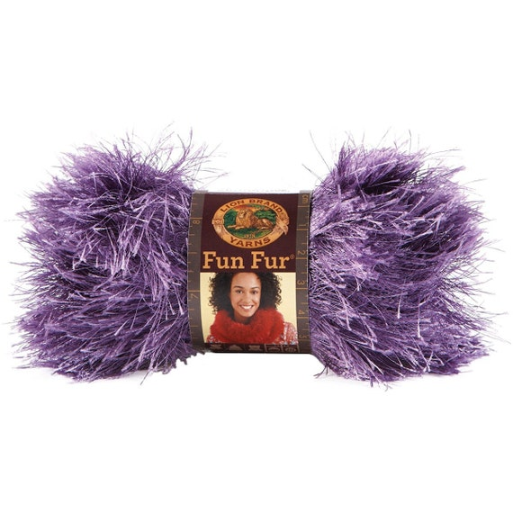 Orchid purple novelty fur yarn fluffy furry chunky for Furry craft