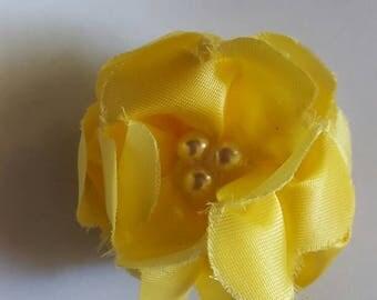 Yellow flower barrette
