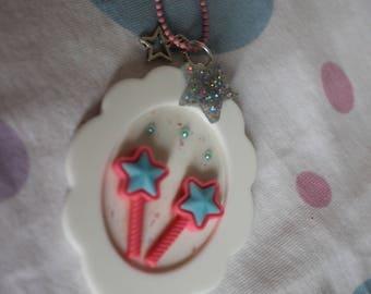 magical girl cameo necklace