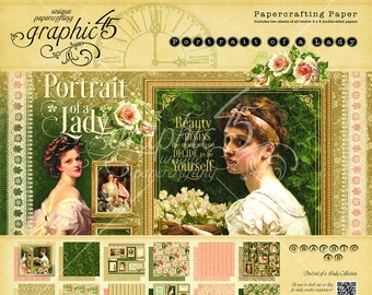 NEW! Graphic 45 Portrait of a Lady 8x8 Paper Pad, SC007693