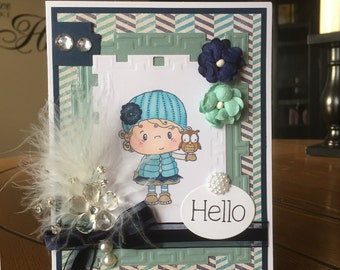 Any Occasion/Hello Handmade Greeting Card