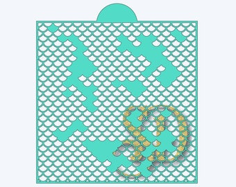Cut your own 8x8 mermaid scales stencil using this distressed mermaid scales SVG file