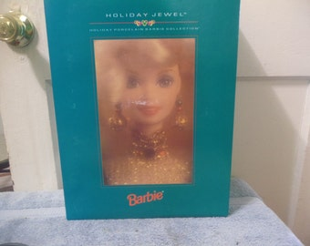 New 1995 Holiday Jewel Porceline Barbie Collector Edition
