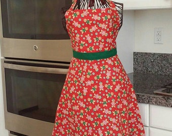 Womens Gingerbread apron