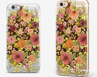 Floral iPhone 8 Case iPhone X Case Gift for Her iPhone 7 Plus Transparent iPhone 6 Case Clear iPhone 7 iPhone SE Flower iPhone 5 Galaxy S8