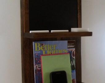 Mail Organizer/Key Rack/with Chalkboard/ Espresso Finish