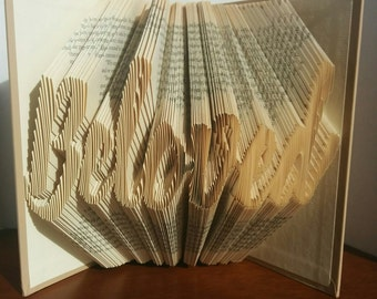 Beloved - Folded Book Art - Fully Customizable, Love, anniversary