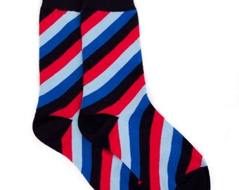 Spiral Striped Socks - Striped Socks. Mens Socks. Mens Dress Socks. Wedding Socks. Groomsmen Socks. Fun Socks. Colorful Socks. Socks