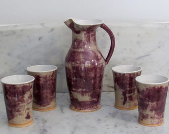 Handmade Pitcher and Cup set