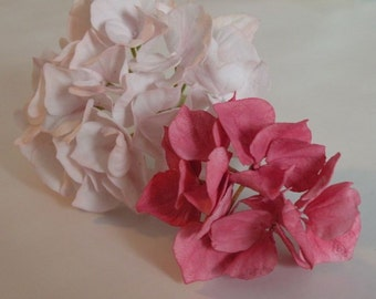 Light pink gumpaste Hydrangea