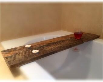 Reclaimed Pallet Wood Bath Tray
