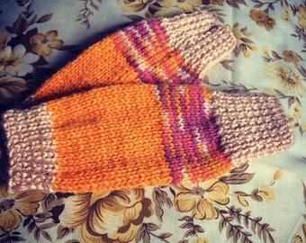 Kids Retro Wrist-warmers/fingerless gloves