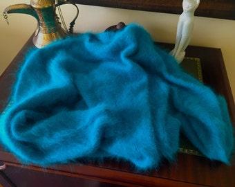 Angora - 100% French Angora Wool Sweater Jumper Handknitted - Free shipping
