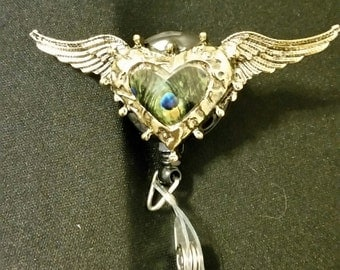 Wing Heart Badge Holder